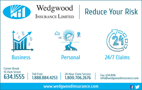 Wedgwood Insurance Limited (709-634-1555) - Annonce illustrée======= -