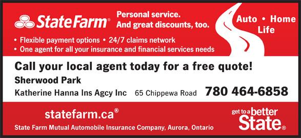State Farm Insurance (780-464-6858) - Annonce illustrée======= -