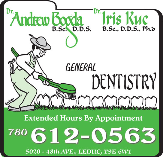 Bogda Andrew Dr (780-986-1323) - Display Ad - GENERAL Extended Hours By AppointmentExtended Hours By Appointment 780 612-0563
