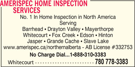 AmeriSpec Home Inspection Services (780-778-3383) - Annonce illustrée======= -