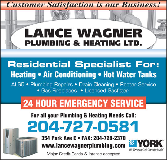 Lance Wagner Plumbing Amp Heating Ltd Opening Hours 354