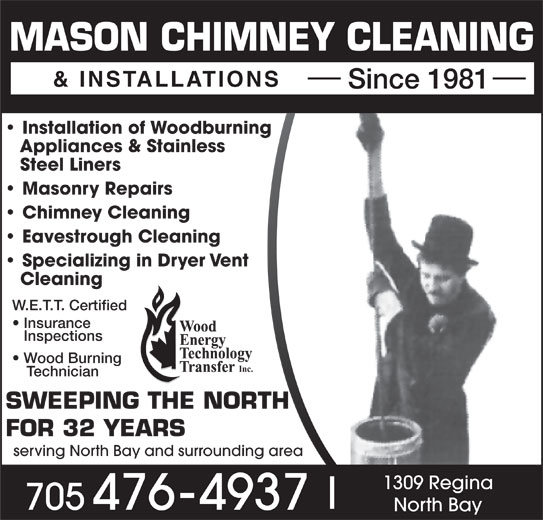 Mason Chimney Cleaning Amp Installations 1309 Regina St