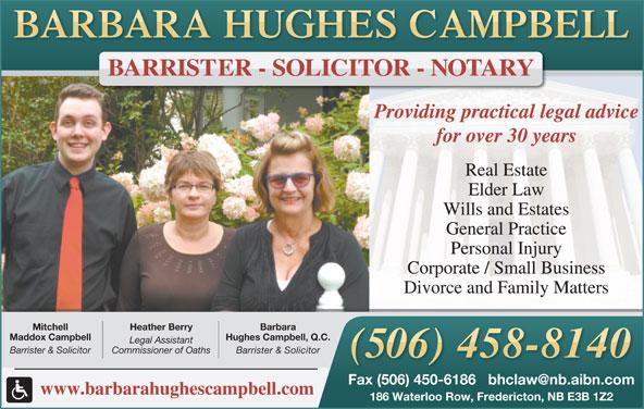 Campbell Barbara Hughes (506-458-8140) - Display Ad -
