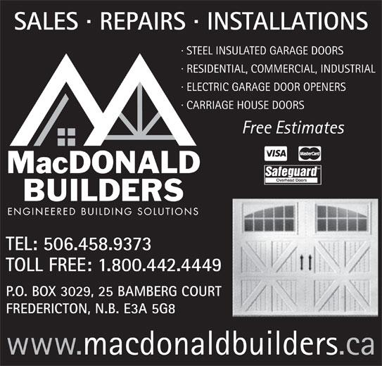 MacDonald Builders And Suppliers (506-458-9373) - Annonce illustrée======= -