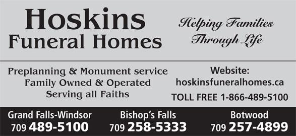 Ads Hoskins Funeral Homes Ltd
