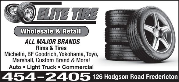 Elite Tire (506-454-2405) - Annonce illustrée======= -