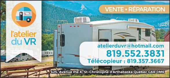 L'Atelier Du VR (819-350-3831) - Annonce illustrée======= -
