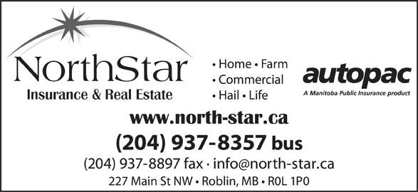 NorthStar Insurance & Real Estate (204-937-8357) - Display Ad - NorthStar NorthStar