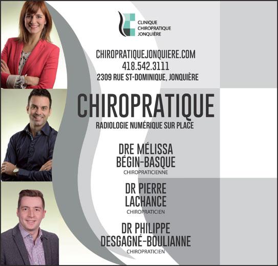 Clinique Chiropratique Jonquière (418-542-3111) - Annonce illustrée======= -
