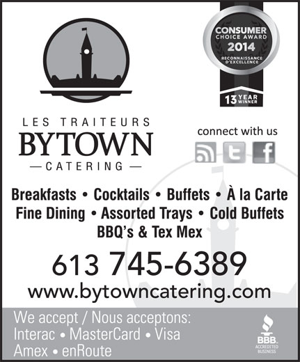 Bytown Catering (613-745-6389) - Display Ad -