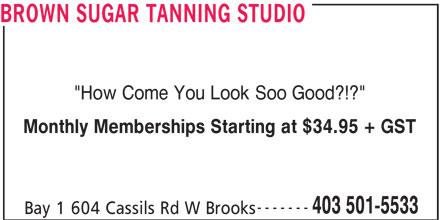 Ads Brown Sugar Tanning Studio