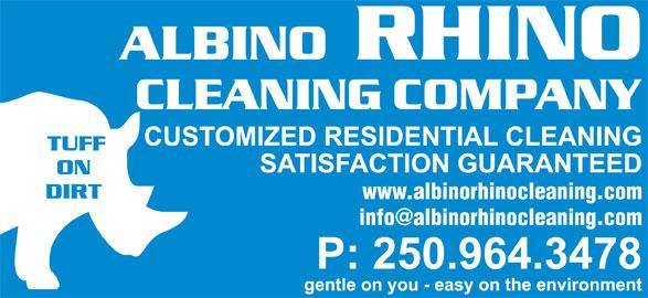 Albino Rhino Cleaning Co (250-964-3478) - Display Ad - www.albinorhinocleaning.com