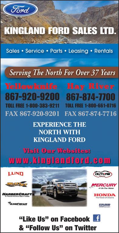 Kingland Ford Sales Ltd (867-874-7700) - Display Ad -