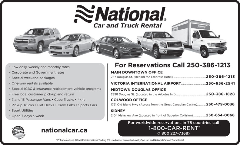 Major Car Rental Companies In Canada