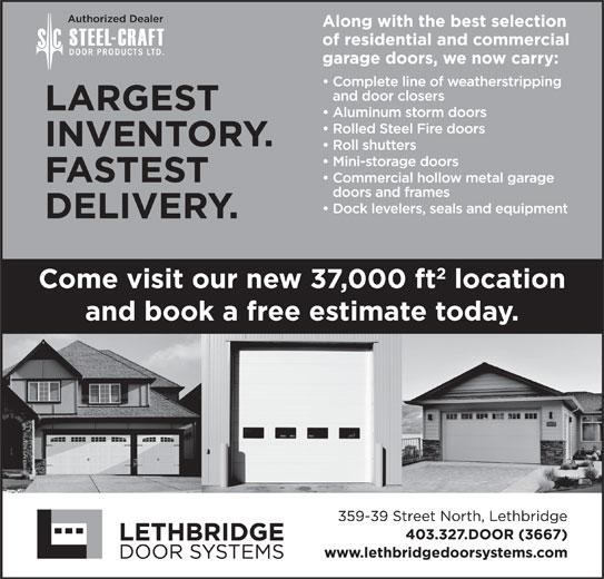 Lethbridge Door Systems Inc (403-327-3667) - Display Ad -