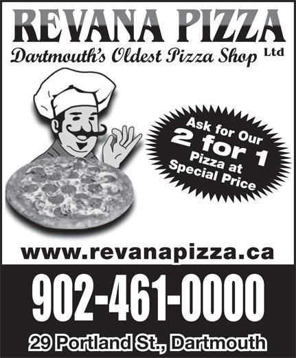 Revana Pizza Ltd (902-461-0000) - Annonce illustrée======= -