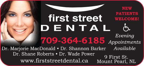 First Street Dental (709-364-6185) - Display Ad -