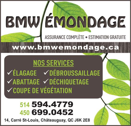 BMW Émondage (514-594-4779) - Annonce illustrée======= -