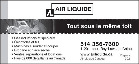 Air Liquide Canada (514-356-7600) - Annonce illustrée======= -