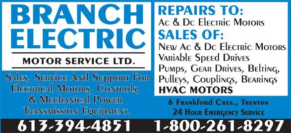 Branch Electric Motor Service Trenton On 6 Frankford