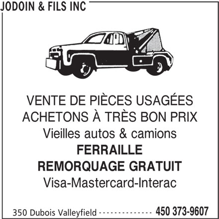 Ads Jodoin R & Fils Inc