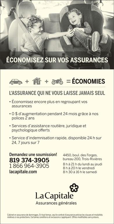 La Capitale assurances générales (819-374-3905) - Annonce illustrée======= -