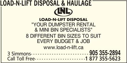 Ads Load-N-Lift Disposal & Haulage