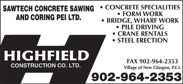 Highfield Crane (902-964-2353) - Display Ad - FAX 902-964-2353 902-964-2353