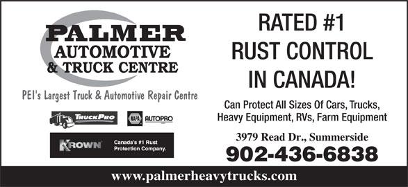 Palmer Automotive & Truck Centre (902-436-6838) - Annonce illustrée======= -