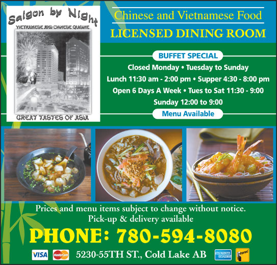 Cold Lake Restaurants Delivery