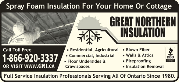 Great Northern Insulation (1-855-412-2603) - Display Ad - 1-866-920-3337