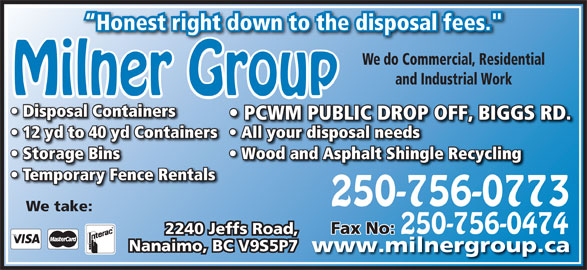 Milner Group Ventures Inc. (250-756-0773) - Display Ad -