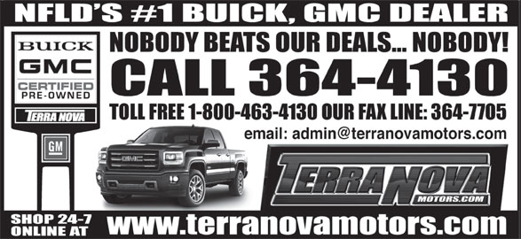 Terra Nova Motors Ltd (709-364-4130) - Display Ad -