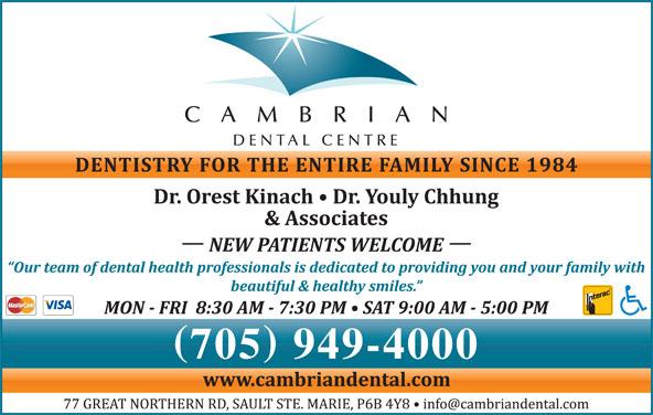 Cambrian Dental Centre (705-949-4000) - Display Ad - DENTAL CENTRE 705 949-4000 CAMBRIAN