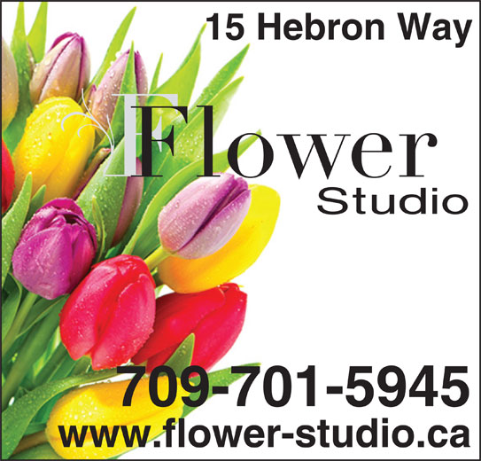 Flower Studio (709-754-4454) - Display Ad - 15 Hebron Way 709-701-5945 www.flower-studio.ca