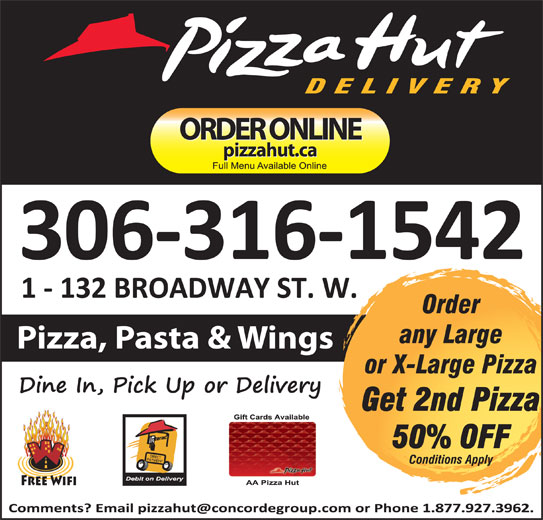Pizza Hut (306-786-2330) - Display Ad -