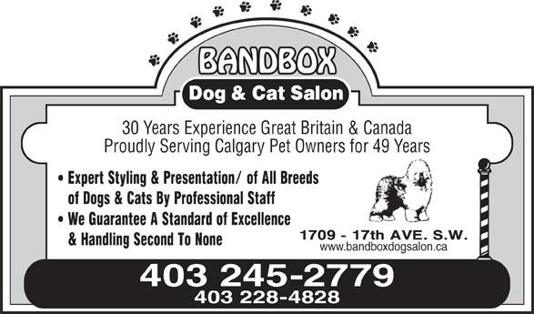BandBox Dog & Cat Salon (403-245-2779) - Annonce illustrée======= -