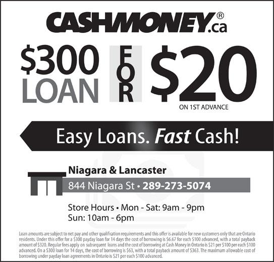 Cash Money (905-788-9869) - Display Ad -