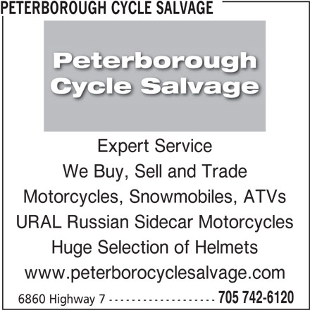 Peterborough Cycle Salvage (705-742-6120) - Display Ad -