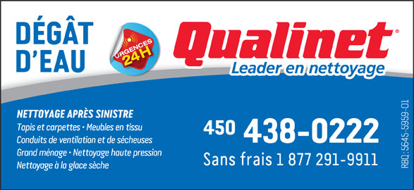 Qualinet (450-438-0222) - Annonce illustrée======= -