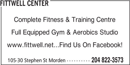 FittWell Center (204-822-3573) - Display Ad -