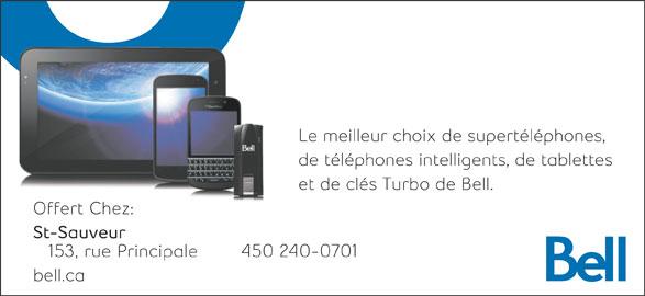 Bell (450-240-0701) - Annonce illustrée======= -