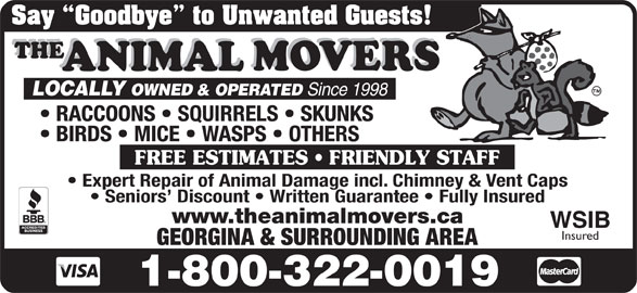 The Animal Movers (1-800-322-0019) - Annonce illustrée======= -