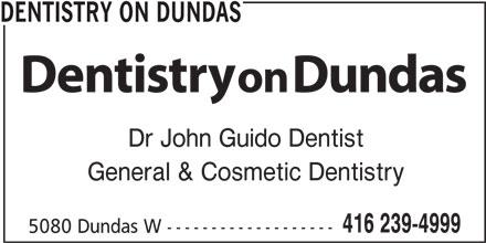 Dentistry On Dundas (416-239-4999) - Display Ad -