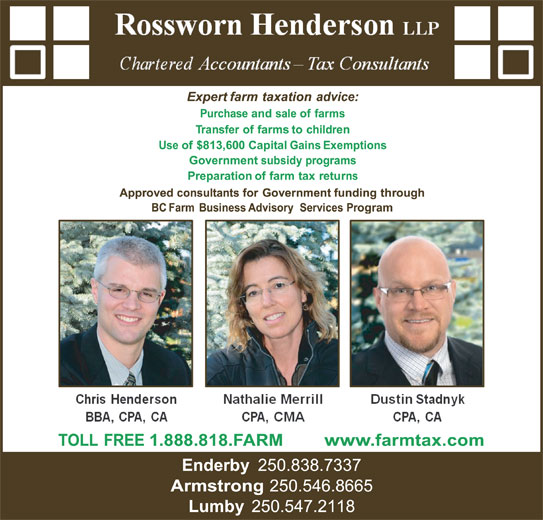 Rossworn Henderson LLP (250-546-8665) - Display Ad -