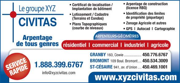 arpenteurs g om tres jodoin grondin granby qc 160 rue cowie canpages fr