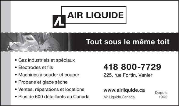 Air Liquide Canada (418-683-1917) - Annonce illustrée======= -