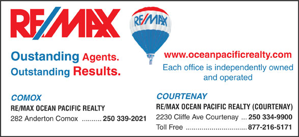RE/MAX Ocean Pacific Realty (250-339-2021) - Display Ad -