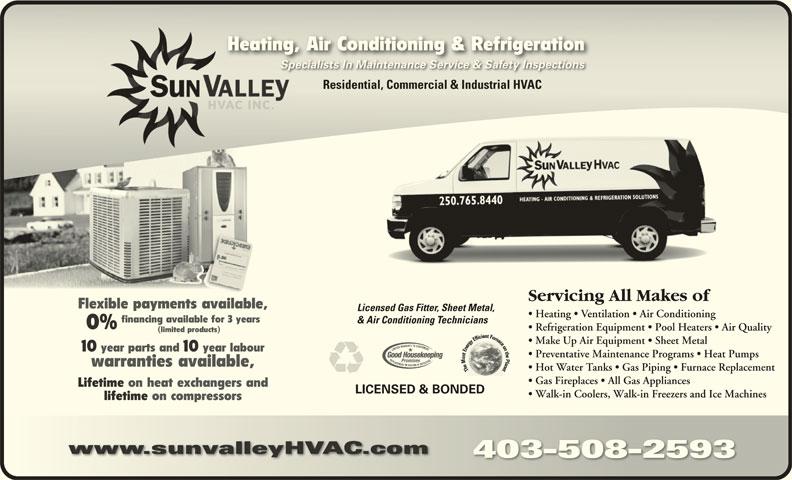 Sun Valley HVAC Inc (403-508-2593) - Display Ad -