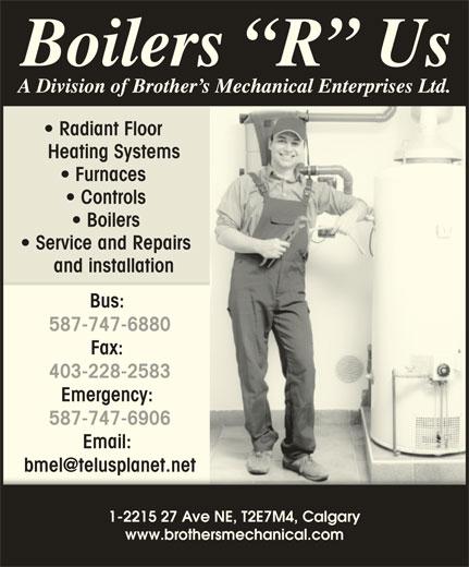 Boilers R Us (403-293-5400) - Annonce illustrée======= -